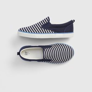 Baby GAP Navy White Stripe Slip On Sneakers